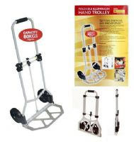 80kg Aluminium Folding Hand Cart Trolley Heavy Duty Foldable Sack Truck Compact